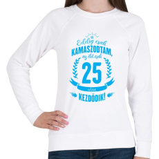 PRINTFASHION kamasz-25-cyan - Női pulóver - Fehér