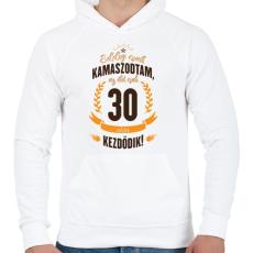 PRINTFASHION kamasz-30-brown-orange - Férfi kapucnis pulóver - Fehér