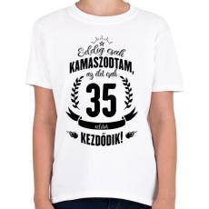 PRINTFASHION kamasz-35-black - Gyerek póló - Fehér