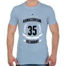 PRINTFASHION kamasz-35-black-white - Férfi póló - Világoskék