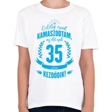 PRINTFASHION kamasz-35-cyan - Gyerek póló - Fehér