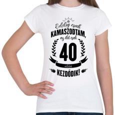 PRINTFASHION kamasz-40-black - Női póló - Fehér