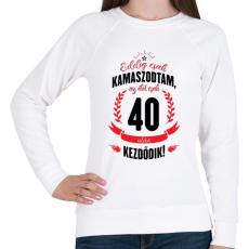 PRINTFASHION kamasz-40-black-red - Női pulóver - Fehér