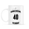 PRINTFASHION kamasz-40-black-white - Bögre - Fehér