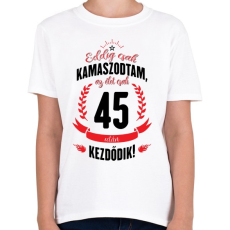 PRINTFASHION kamasz-45-black-red - Gyerek póló - Fehér