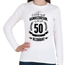 PRINTFASHION kamasz-50-black - Női hosszú ujjú póló - Fehér