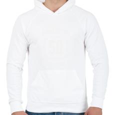 PRINTFASHION kamasz-50-white - Férfi kapucnis pulóver - Fehér