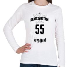PRINTFASHION kamasz-55-black-white - Női hosszú ujjú póló - Fehér