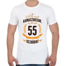 PRINTFASHION kamasz-55-brown-orange - Férfi póló - Fehér