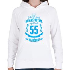 PRINTFASHION kamasz-55-cyan - Női kapucnis pulóver - Fehér