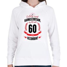 PRINTFASHION kamasz-60-black-red - Női kapucnis pulóver - Fehér
