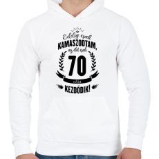 PRINTFASHION kamasz-70-black - Férfi kapucnis pulóver - Fehér