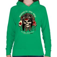 PRINTFASHION Kamikaze - Női kapucnis pulóver - Zöld