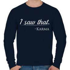 PRINTFASHION Karma - Férfi pulóver - Sötétkék
