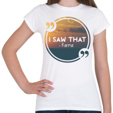 PRINTFASHION Karma - Női póló - Fehér