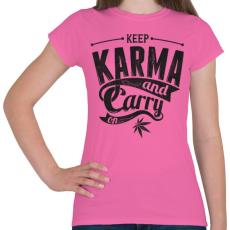 PRINTFASHION Karma - Női póló - Rózsaszín