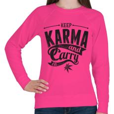 PRINTFASHION Karma - Női pulóver - Fukszia