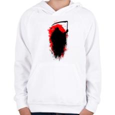 PRINTFASHION Kaszás - Gyerek kapucnis pulóver - Fehér