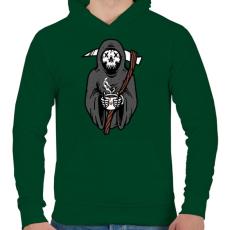 PRINTFASHION Kávézó kaszás - Férfi kapucnis pulóver - Sötétzöld