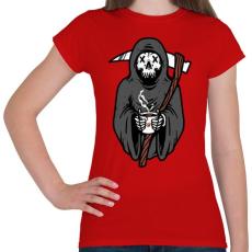 PRINTFASHION Kávézó kaszás - Női póló - Piros