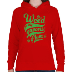 PRINTFASHION Kedvenc gyomom - Női kapucnis pulóver - Piros