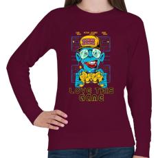 PRINTFASHION Kedvenc játékom - Női pulóver - Bordó