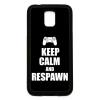 PRINTFASHION Keep calm and respawn - Telefontok - Fekete hátlap