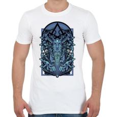 PRINTFASHION Kék vászon - Férfi póló - Fehér