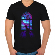 PRINTFASHION Kell a tér  - Férfi V-nyakú póló - Fekete