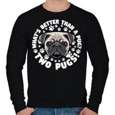 PRINTFASHION Két kutya jobb mint egy - Férfi pulóver - Fekete