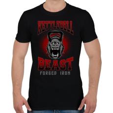 PRINTFASHION Kettlebell szörny - Férfi póló - Fekete
