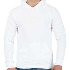 PRINTFASHION kezdo-apuka-white - Férfi kapucnis pulóver - Fehér