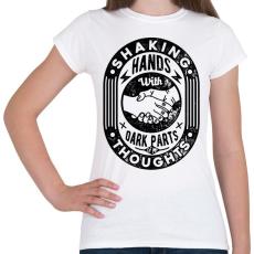 PRINTFASHION Kézfogás - Női póló - Fehér