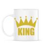 PRINTFASHION KING - Bögre - Fehér