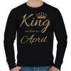 PRINTFASHION king - Férfi pulóver - Fekete