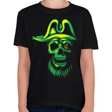 PRINTFASHION Kísértet kalóz - Gyerek póló - Fekete