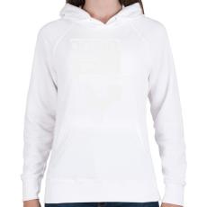 PRINTFASHION kiskakas-white - Női kapucnis pulóver - Fehér