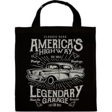 PRINTFASHION Klasszikus Amerikai autó - Vászontáska - Fekete