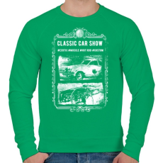 PRINTFASHION Klasszikus autók - Férfi pulóver - Zöld