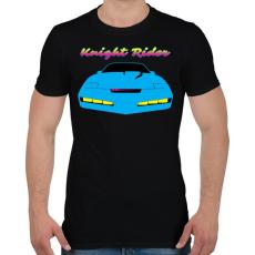 PRINTFASHION Knight Rider Synthwave - Férfi póló - Fekete