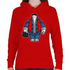 PRINTFASHION Kövér Marty - Női kapucnis pulóver - Piros