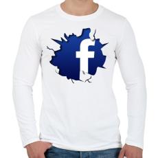 PRINTFASHION Közösségi háló - Férfi hosszú ujjú póló - Fehér