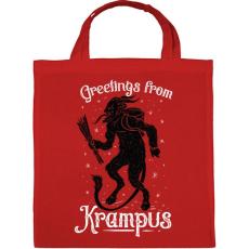 PRINTFASHION Krampusz - Vászontáska - Piros