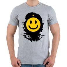 PRINTFASHION Kuba smile - Férfi póló - Sport szürke