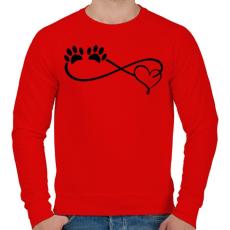 PRINTFASHION Kutya imádat - Férfi pulóver - Piros