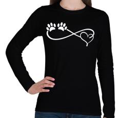 PRINTFASHION Kutya imádat - Női hosszú ujjú póló - Fekete