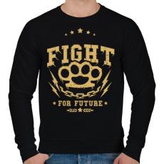 PRINTFASHION Küzdelem - Férfi pulóver - Fekete