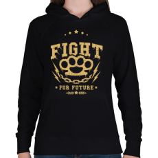 PRINTFASHION Küzdelem - Női kapucnis pulóver - Fekete