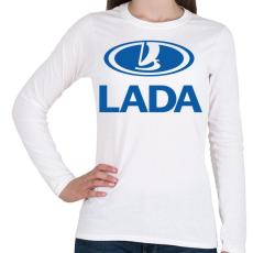 PRINTFASHION Lada - Női hosszú ujjú póló - Fehér