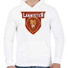PRINTFASHION Lannister - Férfi kapucnis pulóver - Fehér